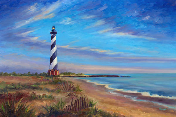 Hatteras Art Print featuring the painting Evening at Cape Hatteras by Jeff Pittman