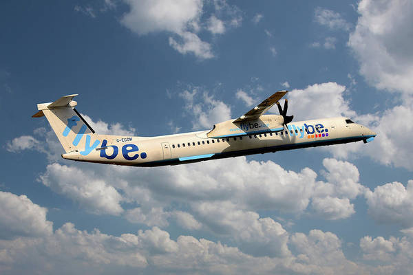 Flybe Art Print featuring the photograph Flybe Bombardier Dash 8 Q400 by Smart Aviation