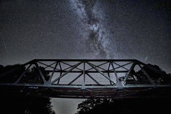 Bridging The Milky Way Art Print featuring the photograph Bridging The Cosmos by JC Findley