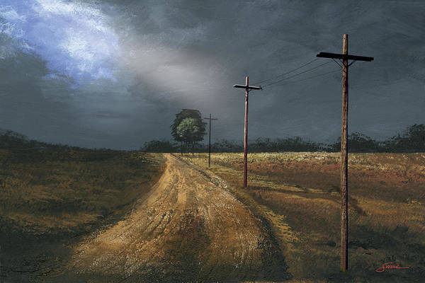 Harold Shull Art Print featuring the painting Narrow Is The Road by Harold Shull