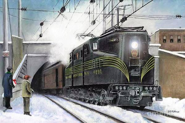 Pennsylvania Railroad Art Print featuring the painting Rivets by David Mittner