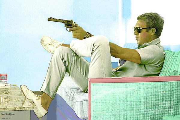 Steve McQueen, Colt revolver, Palm Springs, CA by Thomas Pollart