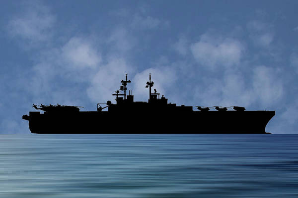 Uss Essex Art Print featuring the photograph Uss Essex 1992 V1 by Smart Aviation