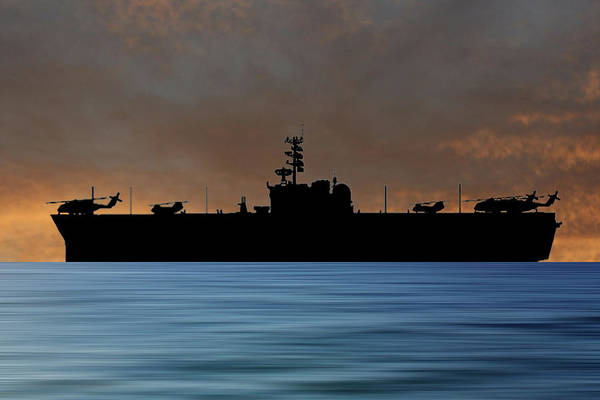 Uss Okinawa Art Print featuring the photograph Uss Okinawa 1960 V3 by Smart Aviation