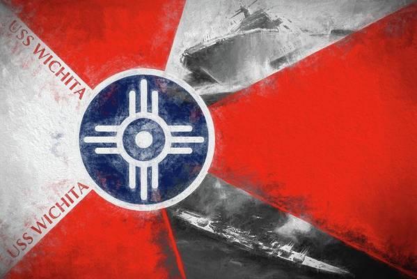 Wichita Art Print featuring the photograph USS Wichita by JC Findley