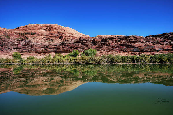 Colorado River Art Print featuring the photograph Reflections on the River by Jim Thompson