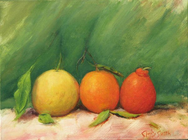 Still Life Art Print featuring the painting Kissing Cousins by Chris Neil Smith