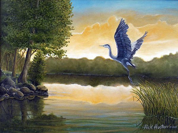 Rick Huotari Art Print featuring the painting Serenity by Rick Huotari