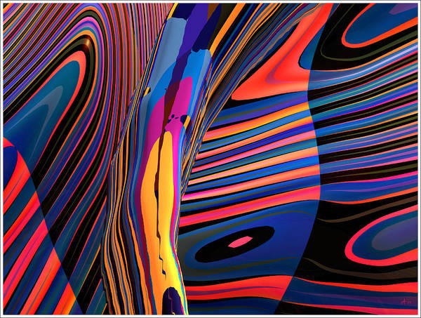 Abstract Art; Digital Fine Art; 3-d Rendering Art Print featuring the digital art Kaleido-fa-callig. 10x11m37 Wide 11i by Terry Anderson