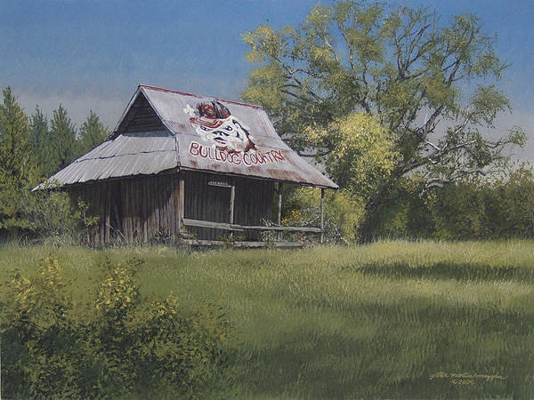 Landscape Art Print featuring the painting Bulldog Country by Peter Muzyka
