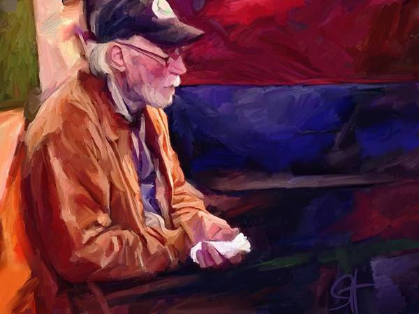 Portrait Art Print featuring the digital art Don by Scott Waters