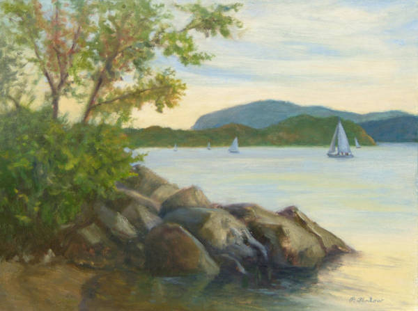 Landscape Painting Art Print featuring the painting Perfect Day for a Sail by Phyllis Tarlow