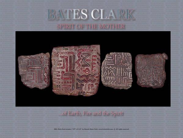 Digital Print Art Print featuring the digital art Spirit of the Mother by Bates Clark