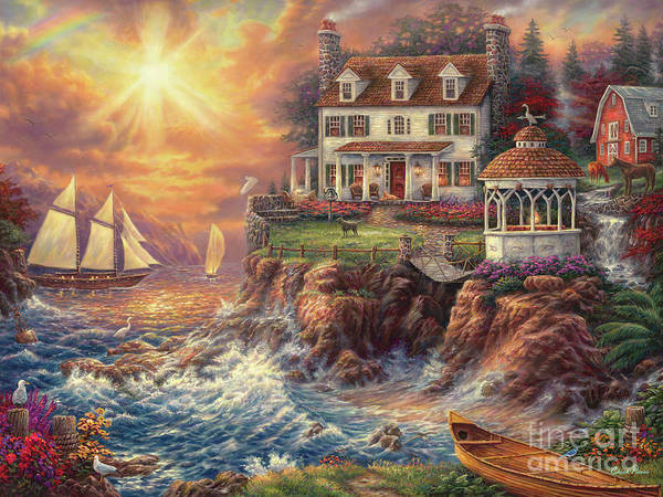 New England Art Print featuring the painting Life Above the Fray by Chuck Pinson
