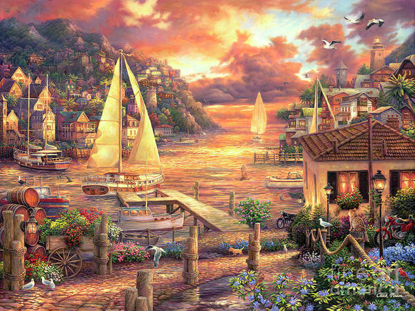 Imaginative Art Art Print featuring the painting Catching Dreams by Chuck Pinson