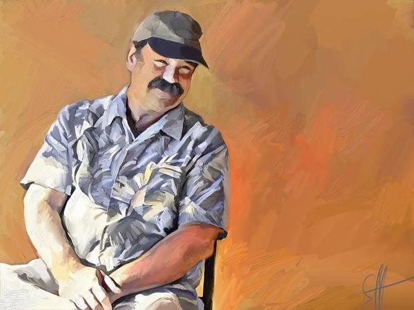 Portrait Art Print featuring the digital art Kevin by Scott Waters