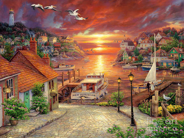 Million Dollar Art Art Print featuring the painting New Horizons by Chuck Pinson