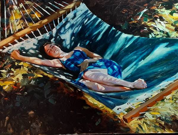 Figurative Outdoor Art Print featuring the painting Shadows by Ron W McDowell