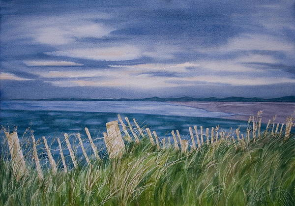 Landscape Art Print featuring the painting Evening Tide by Monika Degan