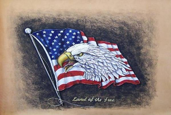 Birds Art Print featuring the painting Land of the Free by Lilly King