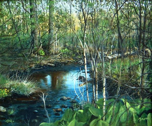 Landscape Art Print featuring the painting Morning Surprise by William Brody