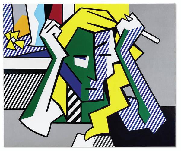 Roy Lichtenstein Deep in Thought by Dan Hill Galleries
