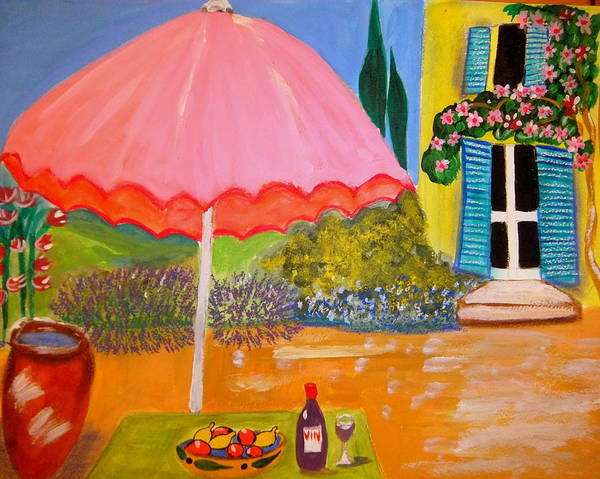 Provence Art Print featuring the painting Le jardin du Voisin by Rusty Gladdish