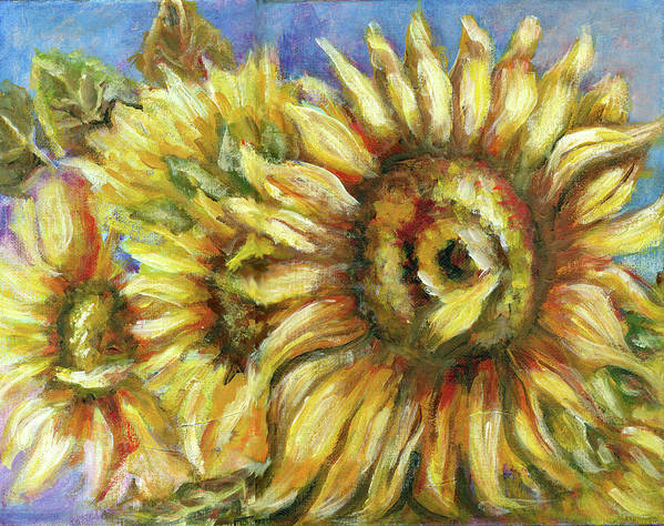 Flower Paintings Art Print featuring the painting Flower Painting by Patricia Halstead