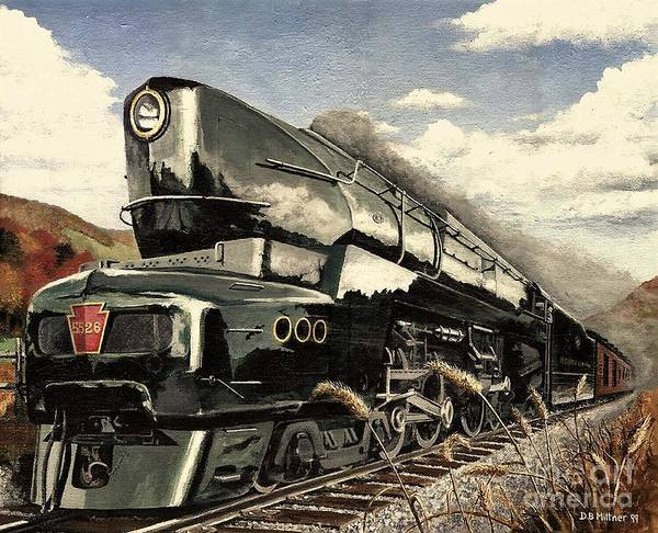 Pennsylvania Railroad Art Print featuring the painting Showin Off by David Mittner