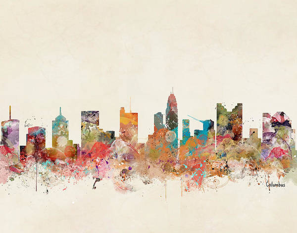 Columbus Ohio Skyline by Bri Buckley