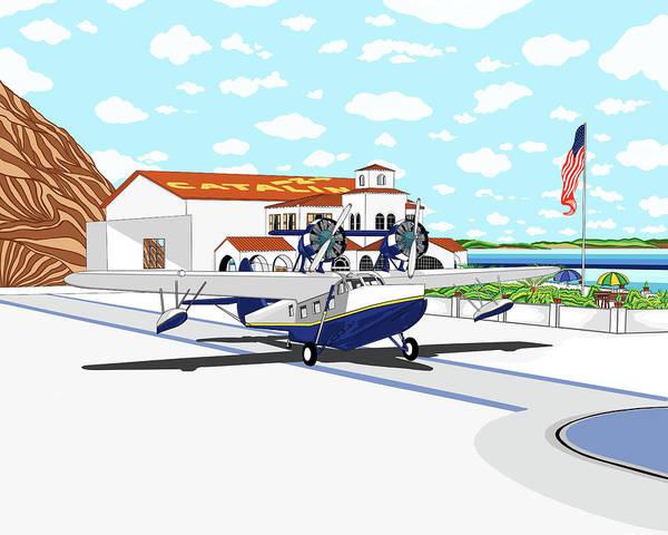 Seaplane Art Print featuring the digital art Hamilton Cove by Carlos Martinez