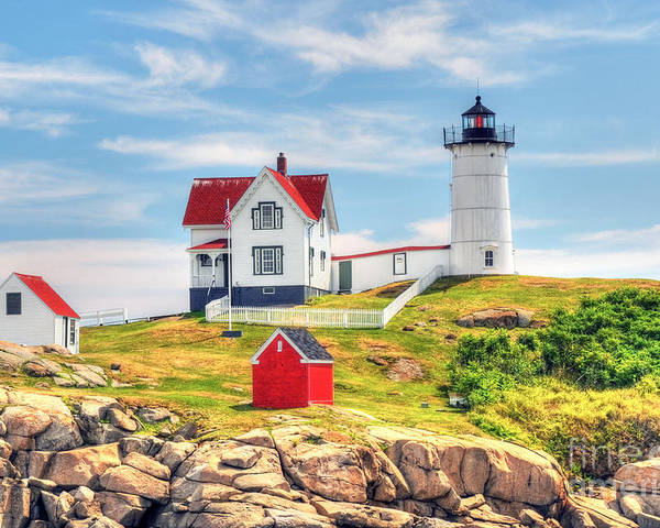 Nubble LightHouse by Arnie Goldstein