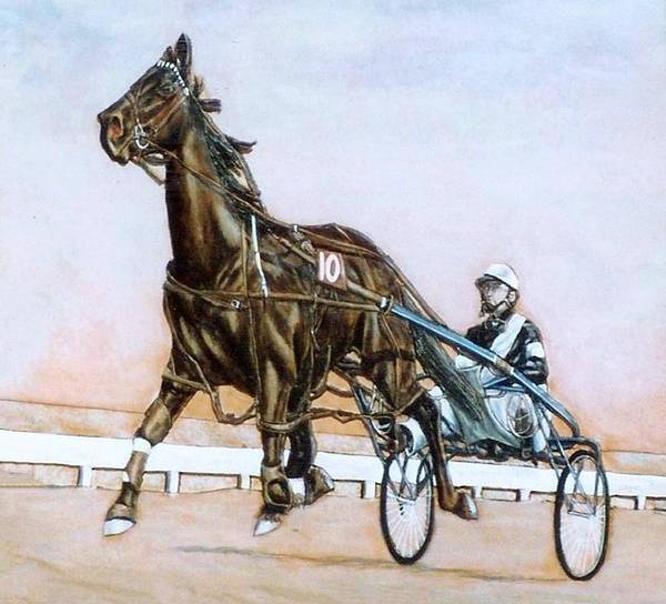 Horses Art Print featuring the painting The Pacer by Lilly King