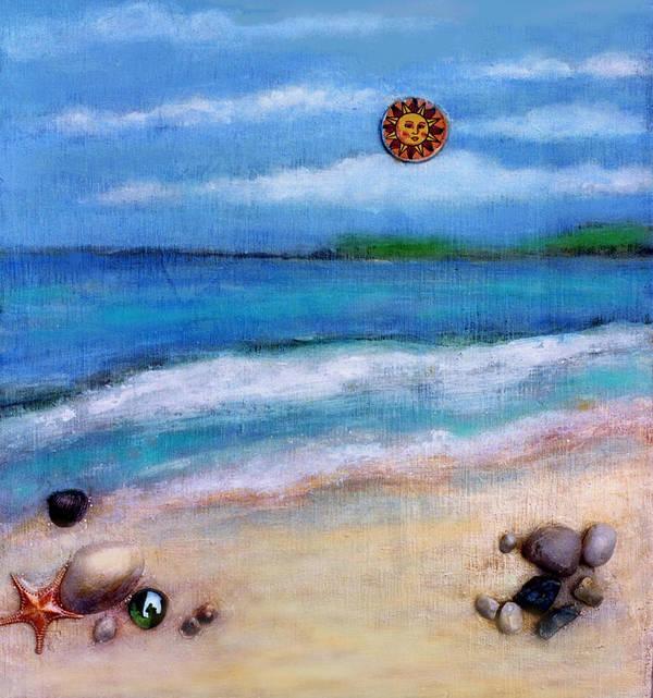 Beach Art Print featuring the painting Three Beaches A by Mary Ann Leitch