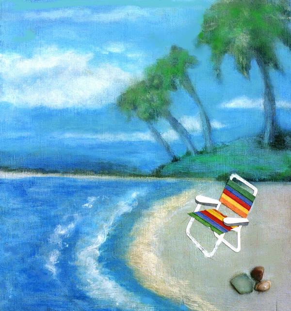 Beach Art Print featuring the painting Three Beaches B by Mary Ann Leitch