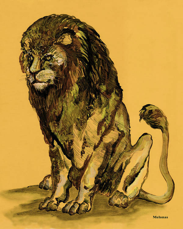 African Art Art Print featuring the painting Sovereignty by Peter Melonas