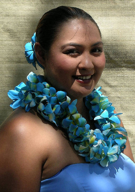 Hawaii Iphone Cases Art Print featuring the photograph Hula Blue by James Temple