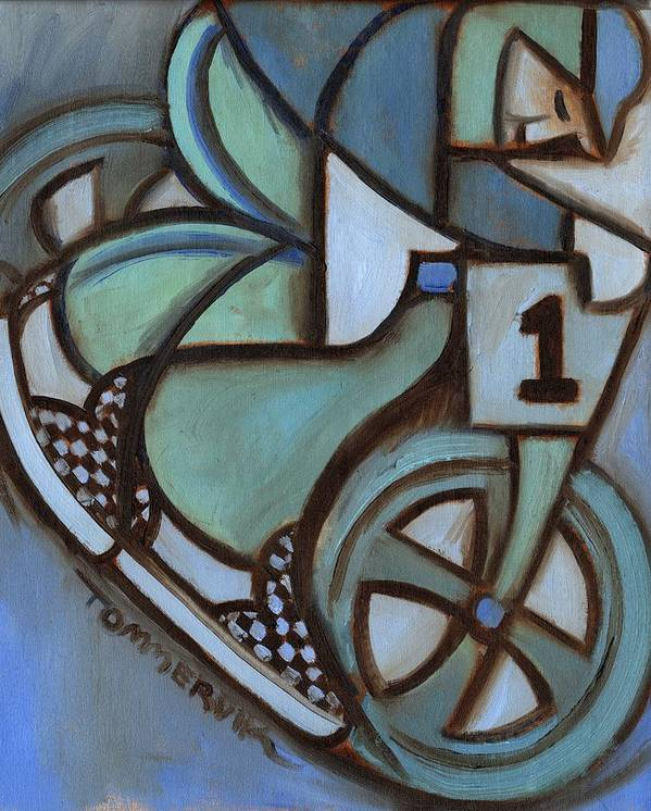 Bmx Art Print featuring the painting Bmx Freestyle Art Print by Tommervik
