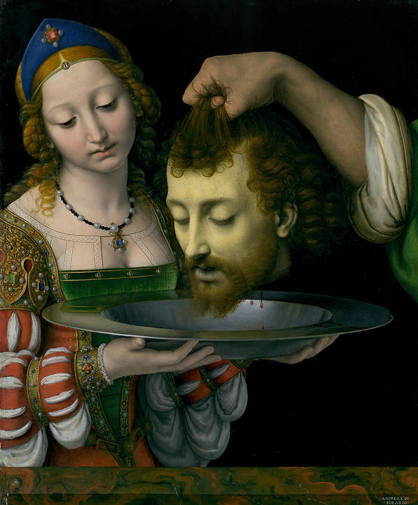 Salome with the Head of Saint John the Baptist by Andrea Solario