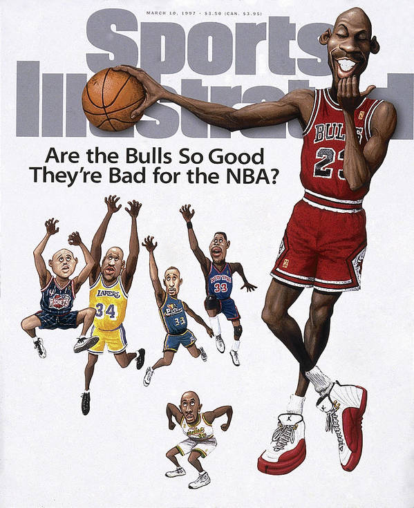 Chicago Bulls Art Print featuring the photograph Are The Bulls So Good Theyre Bad For The Nba Sports Illustrated Cover by Sports Illustrated
