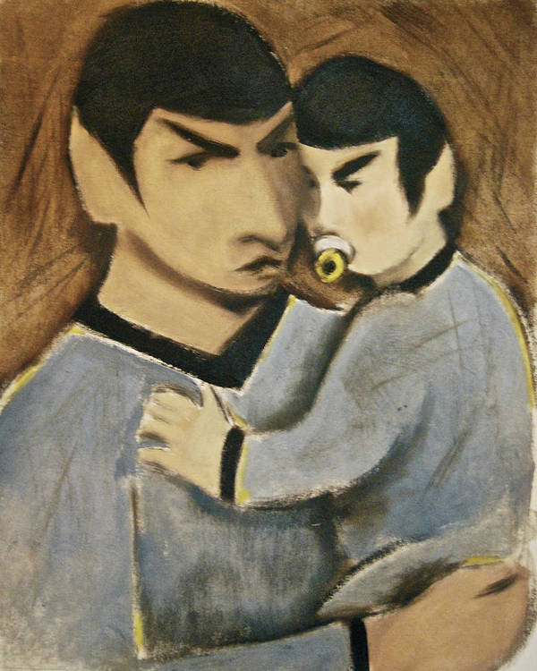 Spock Art Print featuring the painting Baby Spock Art Print by Tommervik