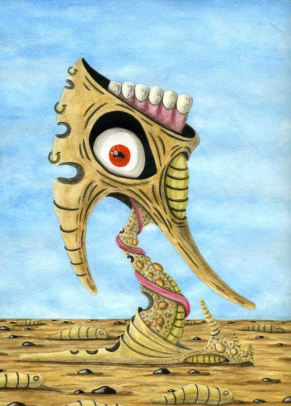 Eye Art Print featuring the painting Season Of The Liar by Jason Darge