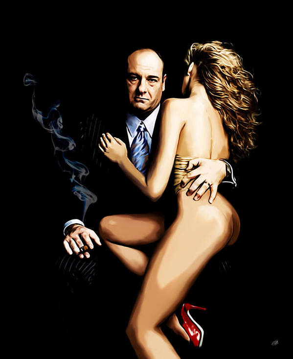 Sopranos Print featuring the painting Badabing by Laurence Adamson