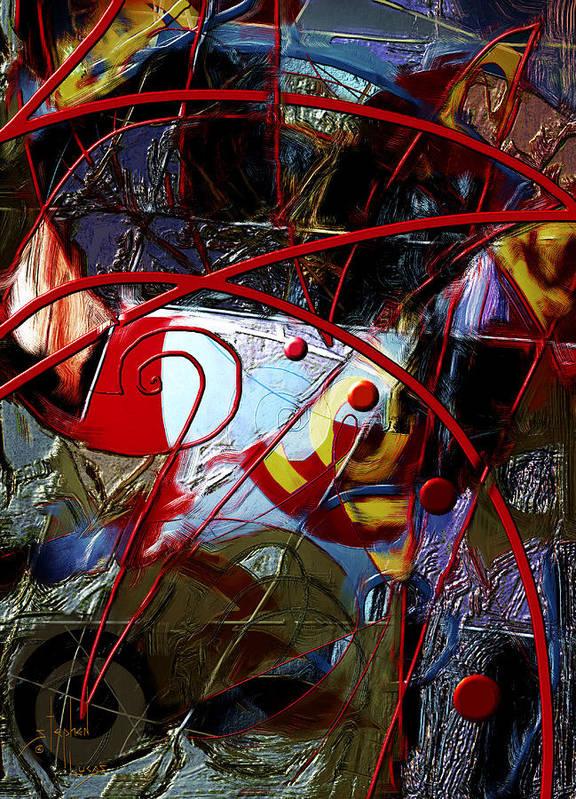 Digital Art Print featuring the digital art Going Inward by Stephen Lucas