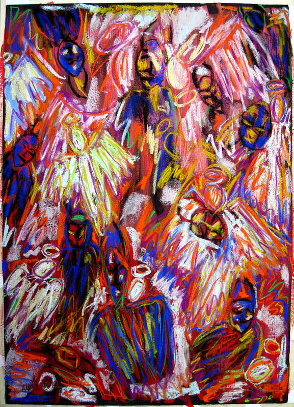 Figure Art Print featuring the painting The War Of Dreams by Albert Almondia