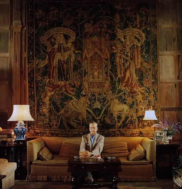 Lantana Art Print featuring the photograph Vanderbilt At Home by Slim Aarons