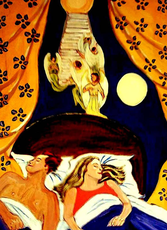 Dreams Art Print featuring the painting Suenos by Rusty Gladdish