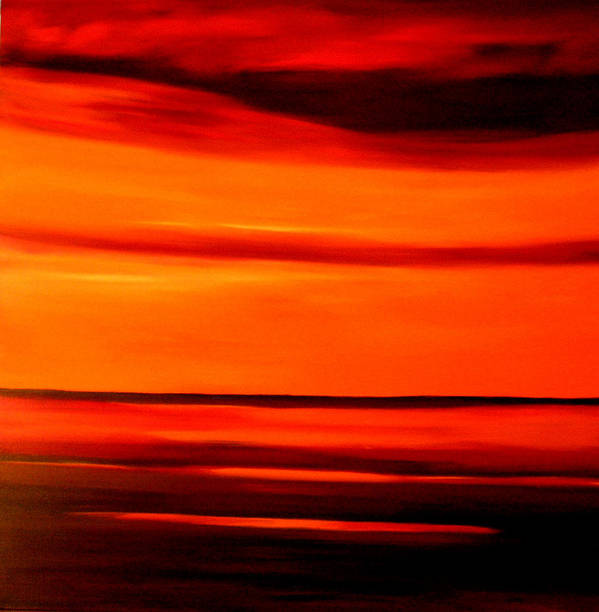 Caribbean Art Print featuring the painting Burning Sky by Sula Chance