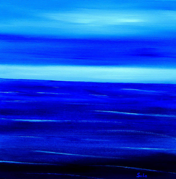 Caribbean Art Print featuring the painting Turquoise Dawn by Sula Chance