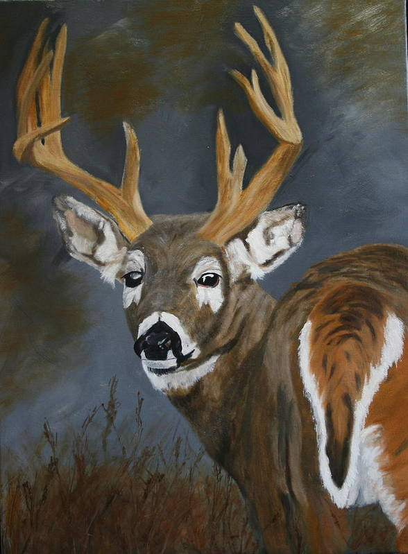 13 Pointer Art Print featuring the painting Chance Meeting by Robert Tower